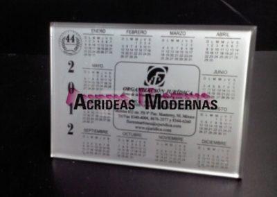 Calendario horizontal impresión