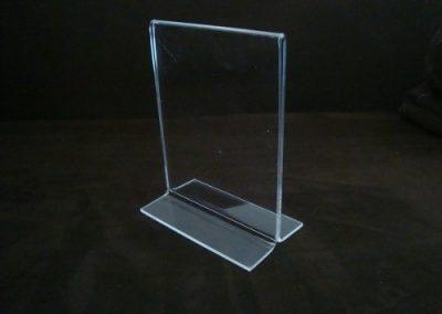 porta menu 3 mm